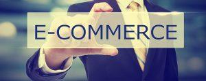 Business man holding E-commerce