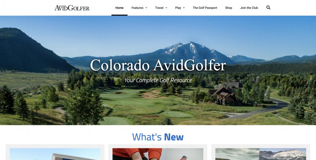 Image Colorado Avid Golfer Homepage