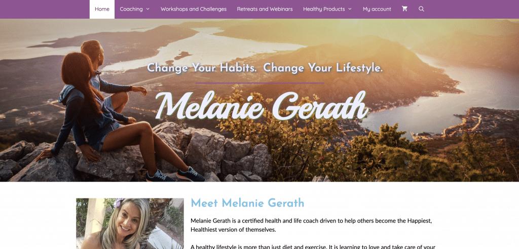 Image of Melanie Gerath Homepage