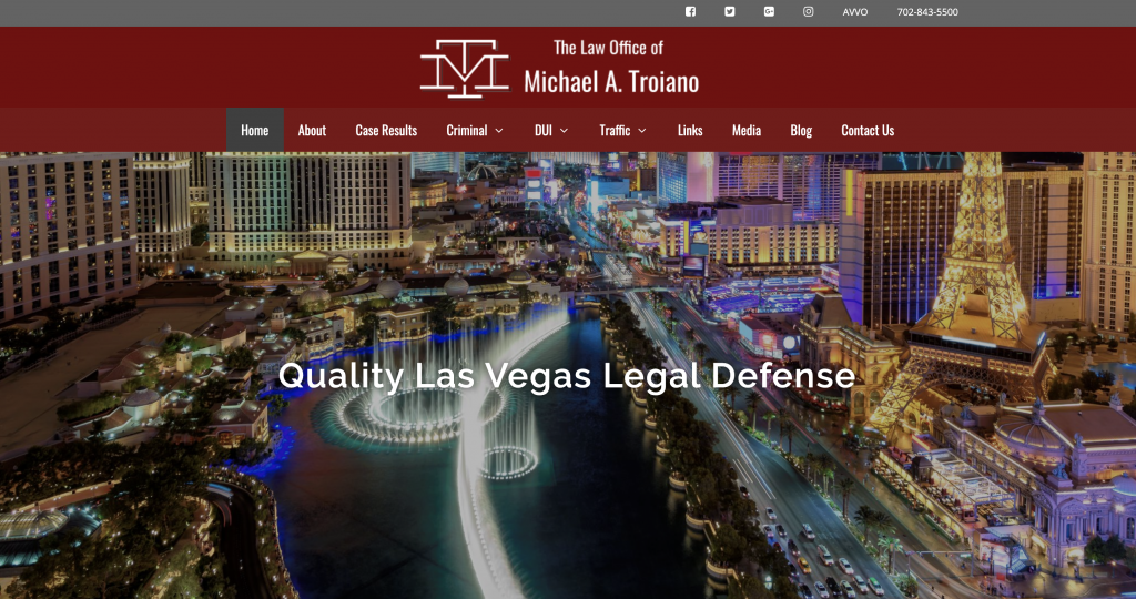 Troiano Vegas Law Homepage